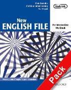 Cover-Bild zu Pre-Intermediate: New English File: Pre-intermediate: Workbook with key and MultiROM Pack - New English File von Oxenden, Clive