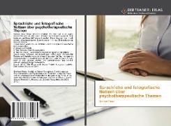 Cover-Bild zu Rippe, Bernhard: Sprachliche und fotografische Notizen über psychotherapeutische Themen