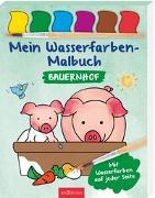Cover-Bild zu Mein Wasserfarben-Malbuch Bauernhof von Beurenmeister, Corina (Illustr.)