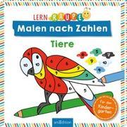 Cover-Bild zu Lernraupe - Malen nach Zahlen - Tiere von Beurenmeister, Corina (Illustr.)