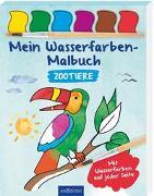 Cover-Bild zu Mein Wasserfarben-Malbuch Zootiere von Beurenmeister, Corina (Illustr.)