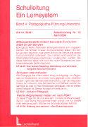 Cover-Bild zu Bd. 4/19: Pädagogische Führung/Unterricht. 19. Aktualisierungslieferung