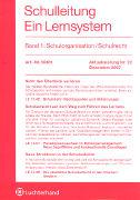 Cover-Bild zu Bd. 1/23: Schulorganisation / Schulrecht. 23. Aktualisierungslieferung