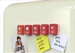 Cover-Bild zu Rocket Pushy Button Magnets -Set Of 5