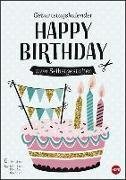 Cover-Bild zu Geburtstagskalender zum Selbstgestalten DIN A4