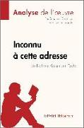 Cover-Bild zu Guihéneuf, Sandrine: Inconnu à cette adresse de Kathrine Kressmann Taylor (Analyse de l'oeuvre) (eBook)