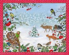 Cover-Bild zu Drescher, Daniela (Illustr.): Adventskalender »Waldweihnacht«