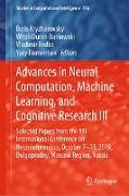 Cover-Bild zu Kryzhanovsky, Boris (Hrsg.): Advances in Neural Computation, Machine Learning, and Cognitive Research III (eBook)