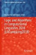 Cover-Bild zu Loukanova, Roussanka (Hrsg.): Logic and Algorithms in Computational Linguistics 2018 (LACompLing2018) (eBook)