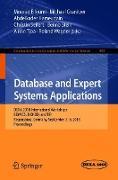 Cover-Bild zu Elloumi, Mourad (Hrsg.): Database and Expert Systems Applications