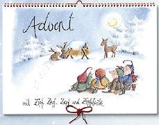 Cover-Bild zu Advent mit Zipf, Zapf, Zepf und Zipfelwitz. Kalender