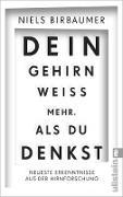 Cover-Bild zu Birbaumer, Niels: Dein Gehirn weiß mehr, als du denkst (eBook)