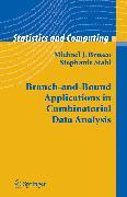 Cover-Bild zu Stahl, Stephanie: Branch-and-Bound Applications in Combinatorial Data Analysis (eBook)