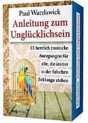 Cover-Bild zu Watzlawick, Paul: Anleitung zum Unglücklichsein