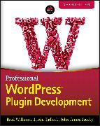 Cover-Bild zu Professional WordPress Plugin Development (eBook) von Williams, Brad