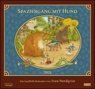 Cover-Bild zu Sven Nordqvist: Spaziergang mit Hund 2021 - DUMONT Kinder-Kalender - Mit 12 Such- und Wimmelbildern - Format 38,0 x 35,5 cm von DUMONT Kalenderverlag (Hrsg.)