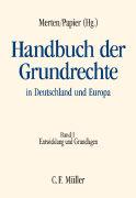 Cover-Bild zu Handbuch der Grundrechte in Deutschland und Europa von Badura, Peter (Beitr.)