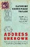 Cover-Bild zu Taylor, Kathrine Kressmann: Address Unknown