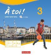 Cover-Bild zu À toi !, Vier- und fünfbändige Ausgabe, Band 3, Lehrermaterialien mit CD-Extra im Ordner, CD-ROM und CD auf einem Datenträger von Faißt, Stefanie