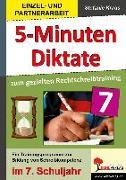 Cover-Bild zu Fünf-Minuten-Diktate / 7. Schuljahr zum gezielten Rechtschreibtraining von Kraus, Stefanie