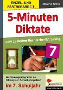Cover-Bild zu 5-Minuten-Diktate zum gezielten Rechtschreibtraining / 7. Schuljahr (eBook) von Kraus, Stefanie