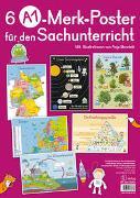 Cover-Bild zu 6 A1-Poster für den Sachunterricht - Deutschland, Europa, Wasserkreislauf, Sonnensystem, Bäume, Ernährungspyramide von Verlag an der Ruhr, Redaktionsteam