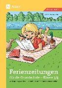 Cover-Bild zu Ferienzeitungen für die Grundschule - Klasse 3/4 von Zerbe, Renate Maria