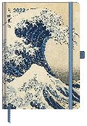 Cover-Bild zu Hokusai, Katsushika: Hokusai 2022 - Buchkalender - Taschenkalender - Kunstkalender - 16x22