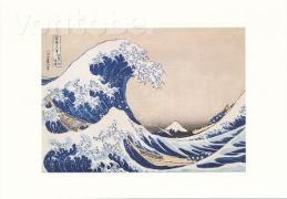 Cover-Bild zu Hokusai, Katsushika (Künstler): Doppelkarte Die Woge bei Kanagawa, c 1835