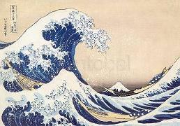 Cover-Bild zu Hokusai, Katsushika (Künstler): Postkarte Die Woge bei Kanagawa, ca. 1835