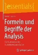 Cover-Bild zu Formeln und Begriffe der Analysis (eBook) von Luderer, Bernd