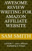 Cover-Bild zu Awesome Review Writing for Amazon Affiliate Products (eBook) von Smith, Sam