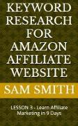 Cover-Bild zu Keyword Research for Amazon Affiliate Website (eBook) von Smith, Sam