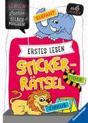 Cover-Bild zu Erstes Lesen Sticker-Rätsel von Jebautzke, Kirstin