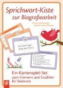 Cover-Bild zu Sprichwort-Kiste zur Biografiearbeit von Jettenberger, Marion