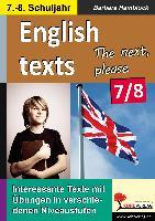 Cover-Bild zu English texts - The next, please. / 7.-8. Schuljahr von Hamblock, Barbara