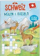 Cover-Bild zu SCHWEIZ. Malen & Rätseln von Beurenmeister, Corina (Illustr.)