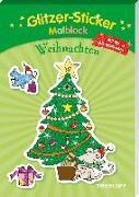 Cover-Bild zu Glitzer-Sticker-Malblock. Weihnachten von Schmidt, Sandra (Illustr.)