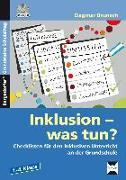 Cover-Bild zu Inklusion - was tun? - Grundschule von Brunsch, Dagmar