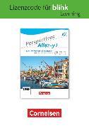 Cover-Bild zu Perspectives - Allez-y !, A2, Kurs- und Übungsbuch als E-Book mit Audios und Videos, Gedruckter Lizenzcode für BlinkLearning (14 Monate für Lernende)