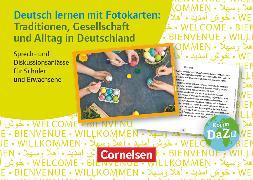 Cover-Bild zu Deutsch lernen mit Fotokarten - Sekundarstufe I/II und Erwachsene, Traditionen, Gesellschaft und Alltag in Deutschland, Sprech- und Diskussionsanlässe für Schüler und Erwachsene, 72 Fotokarten