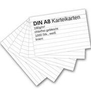Cover-Bild zu Karteikarten 1000 Stück A8 weiß liniert von Ademo Verlag