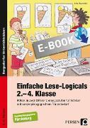 Cover-Bild zu Einfache Lese-Logicals - 2.-4. Klasse (eBook) von Rosendahl, Julia