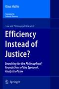 Cover-Bild zu Mathis, Klaus: Efficiency Instead of Justice?