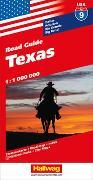 Cover-Bild zu Texas Strassenkarte 1:1 Mio., Road Guide Nr. 9. 1:1'000'000 von Hallwag Kümmerly+Frey AG (Hrsg.)