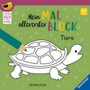 Cover-Bild zu Wessel, Kathrin (Illustr.): Mein allererster Malblock - Tiere