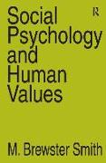 Cover-Bild zu Social Psychology and Human Values von Strauss, Anselm L.