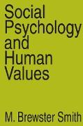 Cover-Bild zu Social Psychology and Human Values (eBook) von Strauss, Anselm L.