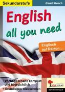 Cover-Bild zu English all you need von Koeck, Bandi