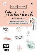 Cover-Bild zu Edition Michael Fischer: Bullet Journal - Stickerbuch Just married: 850 romantische Sprüche und Schmuckelemente für die Hochzeit